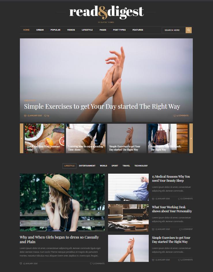ejemplo diseño web tipo magazine