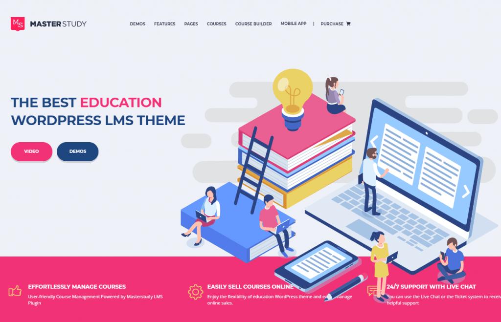 Ejemplo web academia online